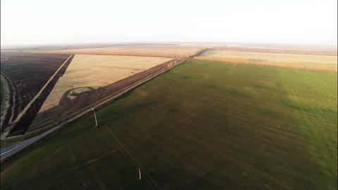 Stock Footage Aerial View of Agricultural fields a Footage