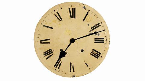 Antique clock timelapse Stock Video Footage