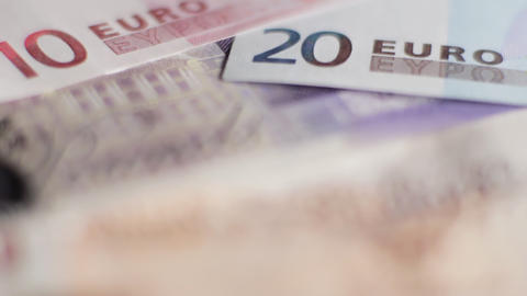 Pounds and Euros Stock Video Footage