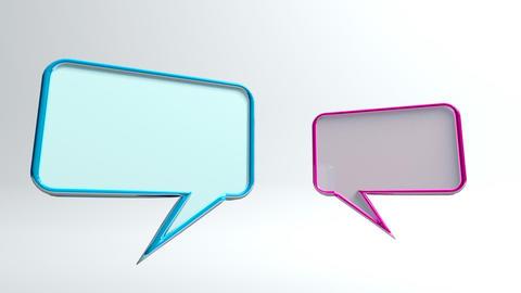 conversation icon Stock Video Footage