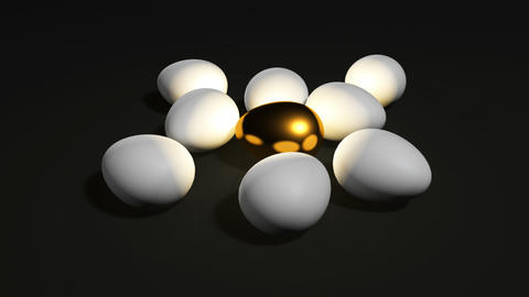 golden egg loop black Stock Video Footage