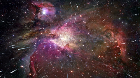 Traveling through star fields in space - The Heavens 0308... Stock Video Footage