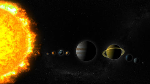 Solar System Stock Video Footage
