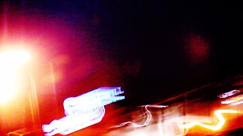 Street Lights 0110 HD-NTSC-PAL Stock Video Footage