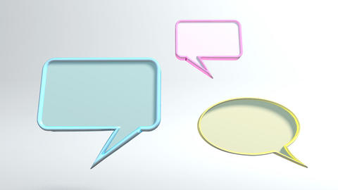 3 conversation icons Stock Video Footage