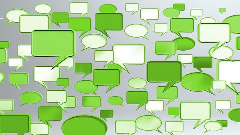 many conversation icons green Animation