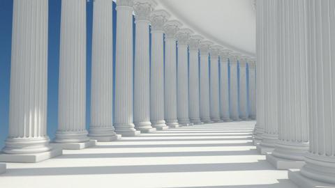 corridor column Stock Video Footage