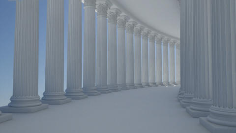 corridor column Animation