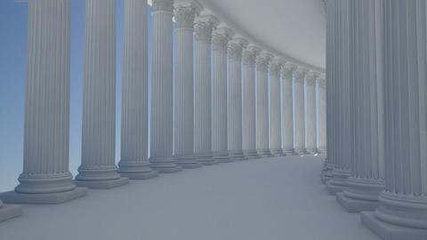 corridor column Animation