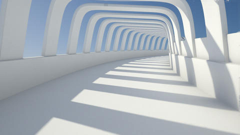 tunnel arch Stock Video Footage