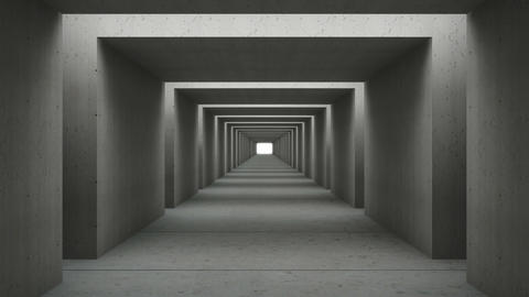 tunnel wall out concrete Animation