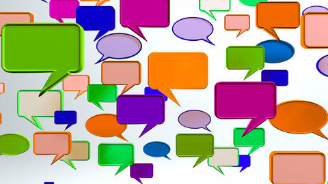warm colorful conversation icons Stock Video Footage