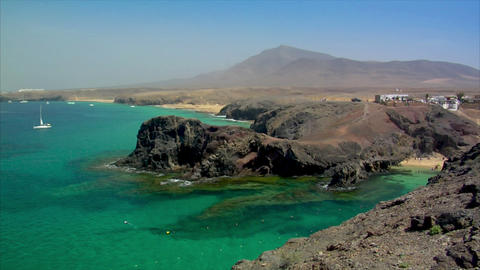 famous papagayo beach super wide Footage