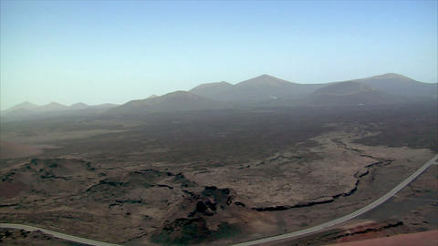 drive high on volcanic crater area Footage