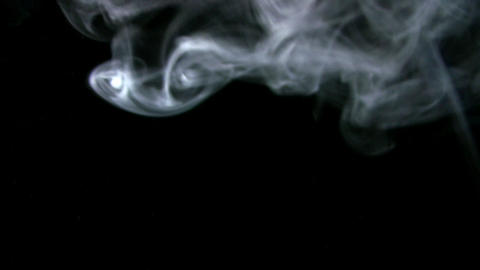 Smoke White 010 Loop Stock Video Footage