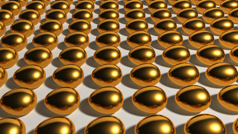 gold eggs industry Stock Video Footage