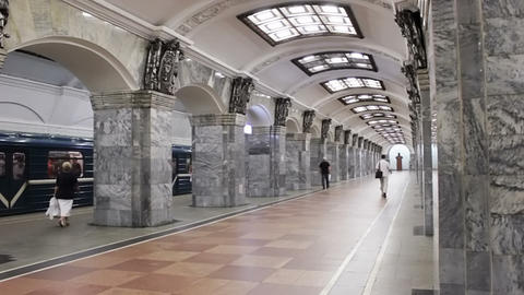 Kirovsky Zavod, timelapse, St. Petersburg, Russia Stock Video Footage