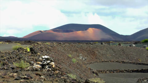 Volcanic Wine Growing Region stock footage