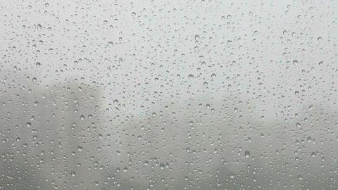 rain on window Stock Video Footage