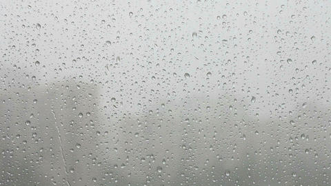 Rain On Window stock footage