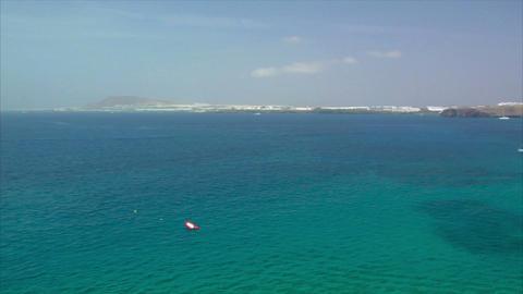 pan papagayo beach to playa blanca Stock Video Footage