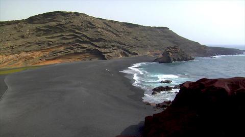 el golfo wide pan dead vulcan area Stock Video Footage