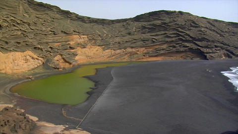 el golfo wide pan dead vulcan area Footage