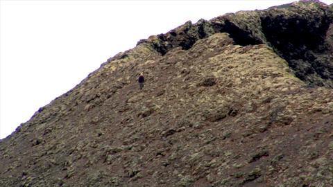 geologist on vulcan edge speed zoom Stock Video Footage