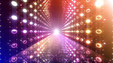 Disco Tunnel 3 W1LC1 HD Stock Video Footage