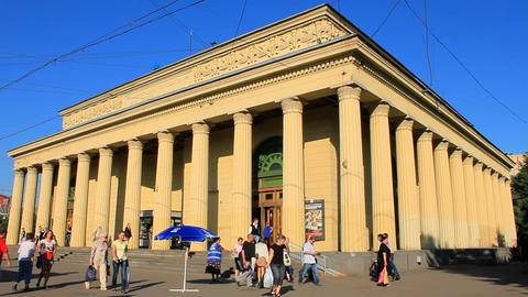 Ground-level vestibule Kirovsky Zavod, timelapse Stock Video Footage