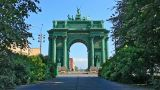 Narva Triumphal Gate, Russian History stock footage