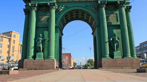 Narva Triumphal Gate, landmark Footage