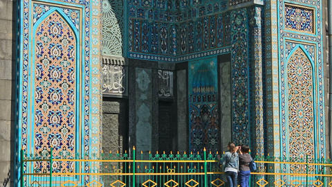 Saint Petersburg Mosque, famous place Stock Video Footage
