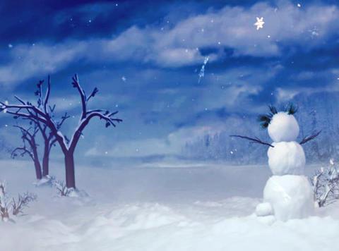 snowman blue sky Stock Video Footage