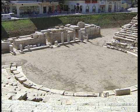 Greek Ancient Theatre Footage