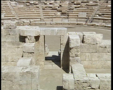 Greek Ancient Theatre Stock Video Footage