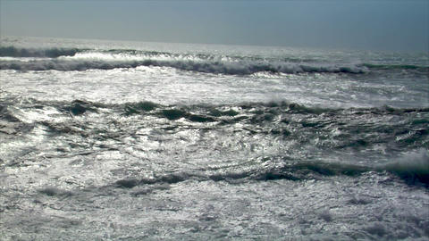wave squall line backlight Stock Video Footage