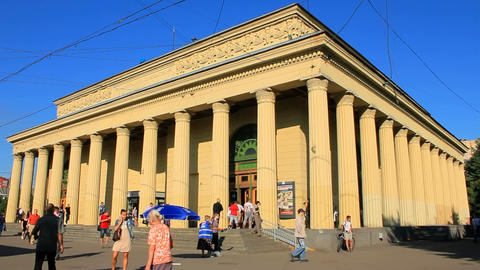 Ground-level vestibule Kirovsky Zavod, Russia, St Stock Video Footage