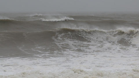 storm sea slow motion Stock Video Footage