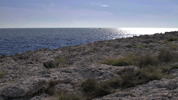 Rocky coast in Istria Stock Video Footage