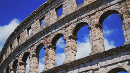 Roman amphitheater in Pula, Croatia Footage
