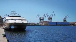 Shipyard in Pula, Croatia Footage
