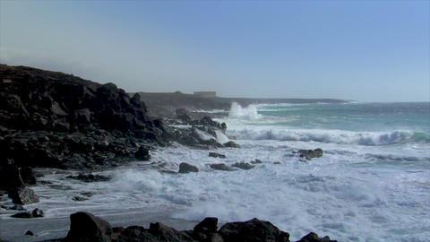 dancing waves coastline timelapse Stock Video Footage