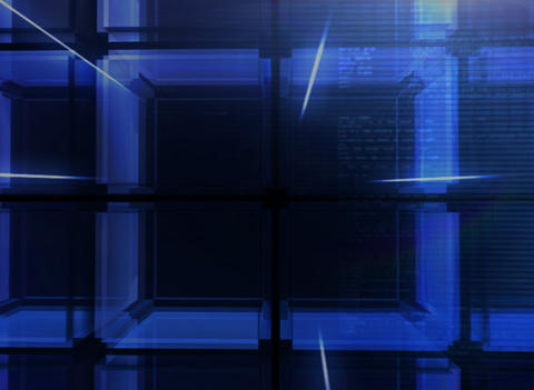 3D digital blue Cube Background Stock Video Footage