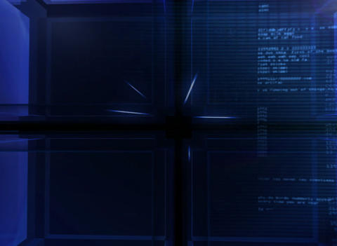 3D digital blue Cube Background Animation