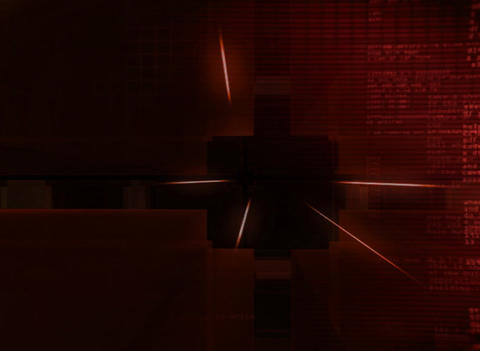 3D digital red Cube Background Stock Video Footage