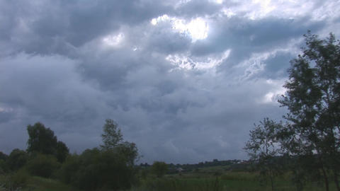 rainy clouds Stock Video Footage