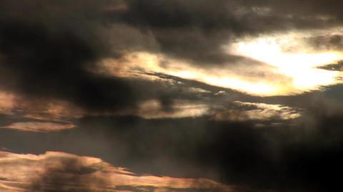 sunset rain Stock Video Footage