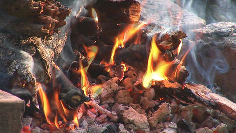 camp fire 3 Stock Video Footage