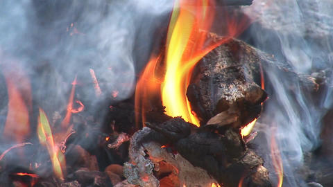 camp fire 5 Stock Video Footage